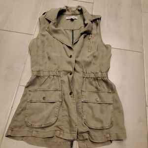 Kenneth  Cole Reaction Army Green Vest